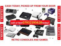 WANTED: old video games, sega, sony, nintendo, atari all things considered.