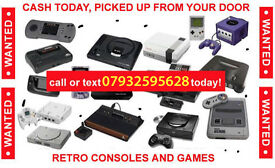 WANTED: nintendo / sega/ sony video games and consoles all things considered!!!