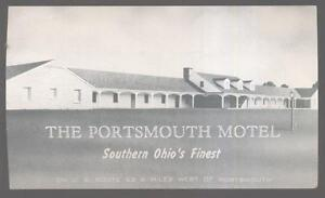 Postcard-PORTSMOUTH-Ohio-OH-Motel-Motor-Court-1950s