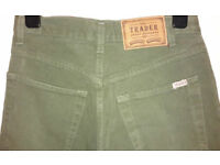 THE TRADER JEANS COMPANY Green Khaki Jeans UK 10 - looks like just bought