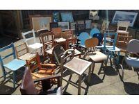 Vintage children's chairs. Job lot!