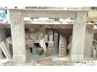 Antique Regency white marble fireplace