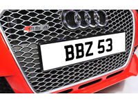BBZ 53 Rare Late 1980's Dateless Personalised Number Plate Audi BMW Ford Golf Mercedes Kia Vauxhall