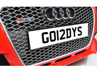 GO12DYS GORDYS GORDON One off Cherished Personalised Number Plate AUDI GOLF MERCEDES LEXUS PORSCHE