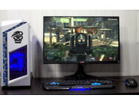 Custom Gaming Desktop PC Computer Fast Performance Intel i3 8GB Nvidia GTX 1050ti 1TB HDD Win10