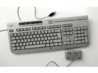 HP Keyboard - Wireless (5187URF) + WIFI Adapter (WIFI, Desktop PC, Gaming PC, Computer)