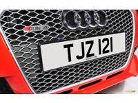 TJZ 121 Personalised Number Plate Audi BMW Volvo Ford Evo Subaru Honda Toyota Kia GTI M3 RS