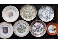 Selection of 9 collectable plates will sell as a collection (£70) or individually at £10 each