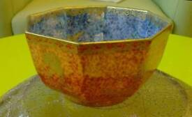 Wedgwood Fairyland lustre octagonal bowl, Daisy Makeig-Jones, Z4825, c1920, butterfly motif