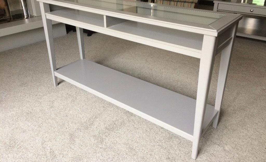 Ikea liatorp console table in grey excellent condition £65 in