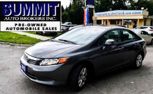 2012 Honda Civic LX | POWER WINDOWS, LOCKS & MIRRORS | BLUETOOTH