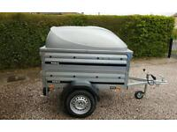 Brenderup 1150s New Car trailer +extension sides +lockable Abs lid