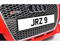 JRZ 9 Single Digit Dateless Personalised Number Plate Audi BMW Ford Golf Mercedes Kia Vauxhall
