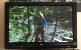 """Black and Silver LG 42"""" Plasma TV in excellent condition"""