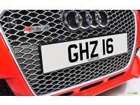 GHZ 16 Personalised Number Plate Audi BMW Volvo Ford Evo Subaru Honda Toyota Kia GTI M3 RS