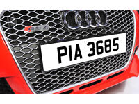 PIA 3685 1970's Ni Dateless Personalised Number Plate Audi BMW Ford Golf Mercedes Kia Vauxhall