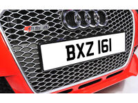 BXZ 161 Dateless Personalised Number Plate Audi BMW Ford Golf Mercedes Kia Vauxhall