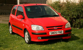HYUNDAI GETZ 1.3L SPORT Red 3 Door Low Mileage(44K) Service History Alloy wheels