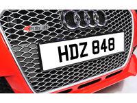 HDZ 848 Dateless Personalised Number Plate Audi BMW Ford Golf Mercedes Kia Vauxhall