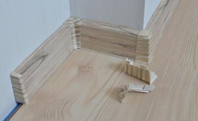 2 Meter Sockelleiste 55mm PVC Belweder Laminatleisten Fussleisten aus Kunststoff PVC Laminat Dekore Fu/ßleisten DQ-PP