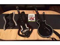 Xbox Guitar Hero II with guitars and mic