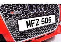 MFZ 505 Dateless Personalised Number Plate Audi BMW Ford Golf Mercedes Kia Vauxhall