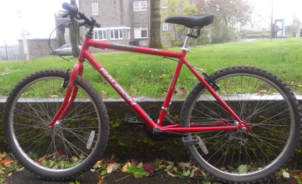 Red Raleigh Adult Bike