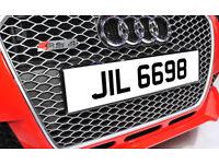 JIL 6698 Dateless Personalised Number Plate Audi BMW Volvo Ford Evo Subaru M3 GTI GTR