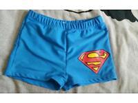 Boys superhero swimming shorts clothes fashion
