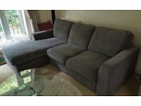 Grey corner sofa - amazing condition (looks brand new) and really comfortable - £150