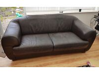 Free Black leather sofa