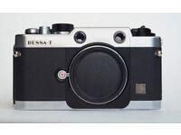 Voigtlander Bessa T 35mm Leica M mount rangefinder film camera body with leather case £245