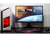 New White Gaming Desktop PC Fast Performance Intel Quad Core 8GB Nvidia GTX 1050ti 1TB HDD Win10