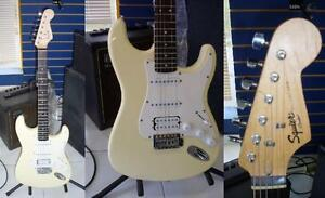 AUBAINE Guitare électrique FENDER SQUIER BULLET STRAT hss cream white