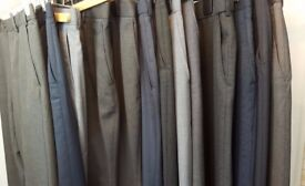 "13 PAIRS OF IMMACULATE MEN'S WORK DRESS TROUSERS 32"" M&S BURTON ETC"