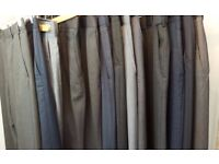 """13 PAIRS OF IMMACULATE MEN'S WORK DRESS TROUSERS 32"""" M&S BURTON ETC"""