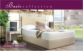 Special Offer 4ft6 Classic ortho Divan Set with Leather Headboard Only £260