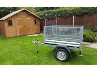 Car trailer New Brenderup 1150 with mesh side.