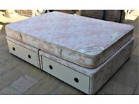 """4' 6"""" Rest Assured Double Bed with 14 cubic feet of storage drawers"""