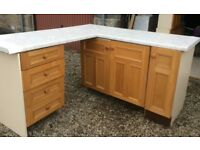 Range of kitchen cupboards - used.