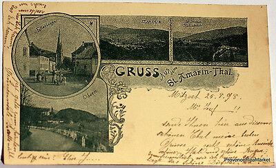 Cpa Precursor Germany Gruss Aus St Amarin Thal 1898 Scan High Def Lae489
