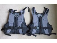 YAK Kallister 50N Adult Canoe, Kayak Life Jacket / Buoyancy Aid. 2 available £25 each (XL & M/L)
