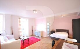 Double size studio flat with private balcony close to St. John's Wood tube station