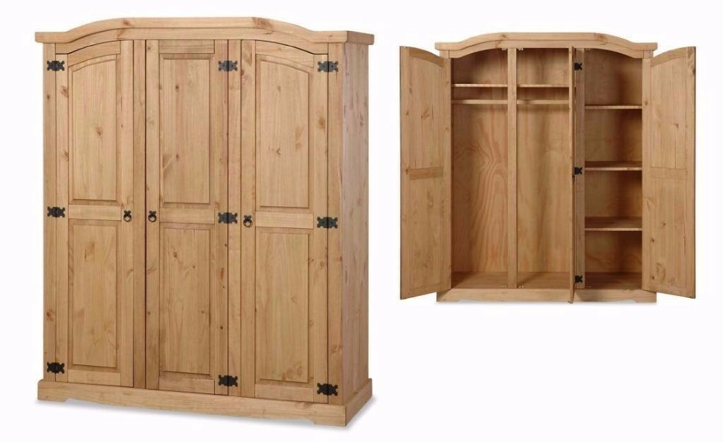 New Solid Corona Mexican Pine Wardrobes in 5 styles FROM £149 ALL IN STORE NOW