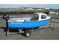 FAMILY FISHERMAN PACKAGE - SHOW OFFER - ONE ONLY - BOAT, OUTBOARD AND TRAILER