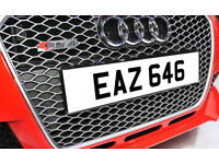 EAZ 646 Dateless Personalised Number Plate Audi BMW Ford Golf Mercedes Kia Vauxhall