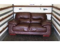 Dark Brown Leather 2 seater