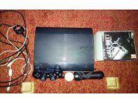 SONY PLAYSTATION 3-500GB-SUPER SLIM-1 CONTROLLER-6 GAMES-ALL CABLES ( PS3 )