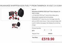 MILWAUKEE M18FPP2A-523X FUEL™ PROM TWINPACK 18 VOLT 2 X 5.0AH