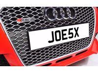 JOE5X JOESX JOES JOE One off Cherished Personalised Number Plate AUDI GOLF MERCEDES LEXUS PORSCHE